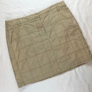 Ann Taylor Loft Tan Patchwork Mini Skirt Size 8